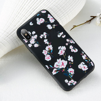 iPhone X Relief Flower Case