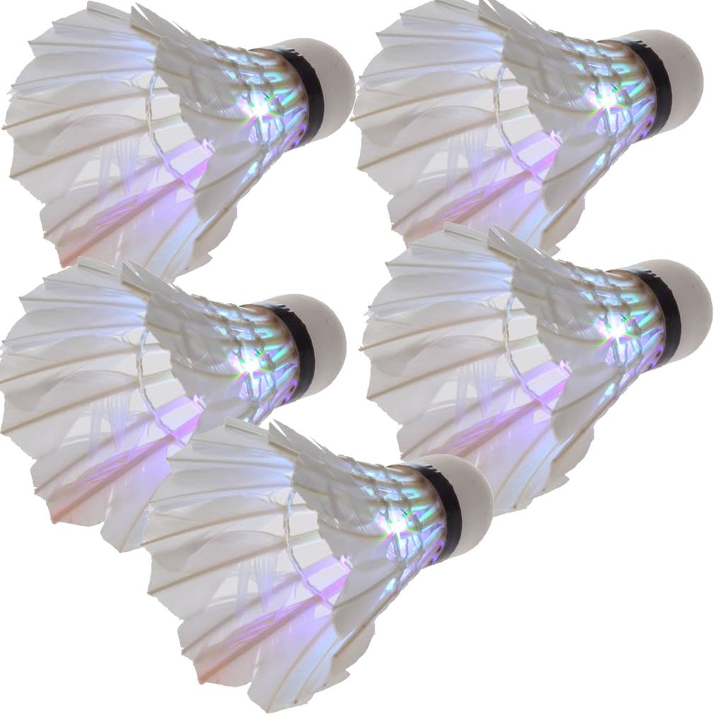 PROMOTION! New Lovely 5*Dark Night LED Badminton Shuttlecock Birdies Lighting Multicolours