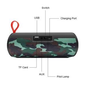 Image 5 - M & J اللاسلكية مكبر الصوت المحمول الذي يعمل بالبلوتوث مضخم صوت ستيريو العمود مكبر الصوت + TF المدمج في هيئة التصنيع العسكري باس FM USB MP3 الصوت بوم صندوق