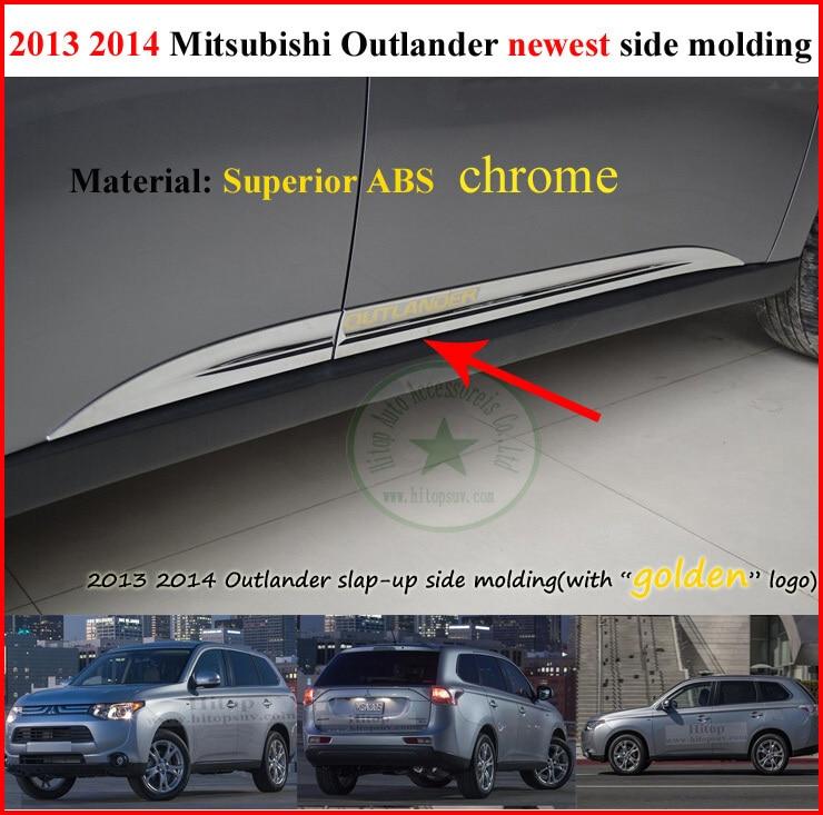 Здесь можно купить   for Mitsubishi Outlander 2013 2014 2015 body side molding door moulding scuff plate,with golden logo, clear stock, lose money Автомобили и Мотоциклы