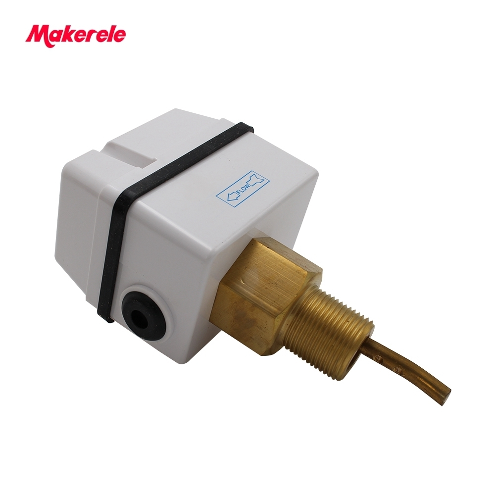 цена на Brass Paddle Flow Switches For Gas And Liquid Paddle Flow Sensor Air Conditioner Parts AC 250V 15A Liquid Flow Switch MK-FS01