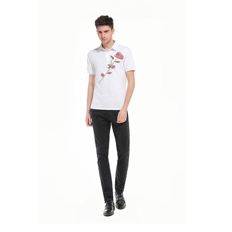 Camisetas tops algodón Polo Lanbaosi fit slim Polo Polo corta Bordado blanco hombres Polo estilo mens casual s preppy en camisa rosa Camisas manga Tees de nnRHpaCEx