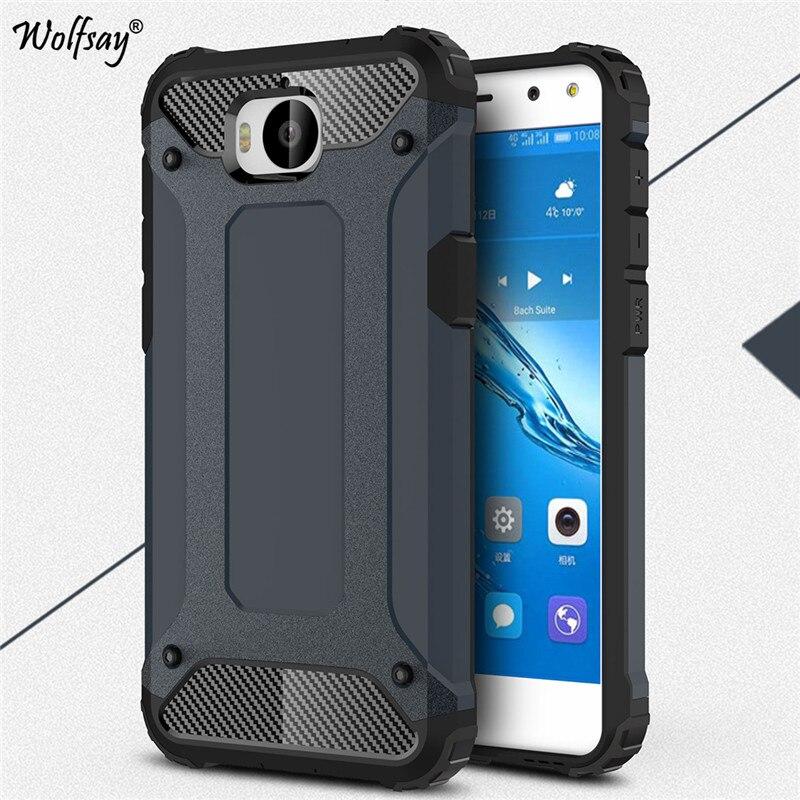 Folkekære Wolfsay Armor Cover Huawei Y6 2017 Case Huawei Y5 2017 Case BO-53