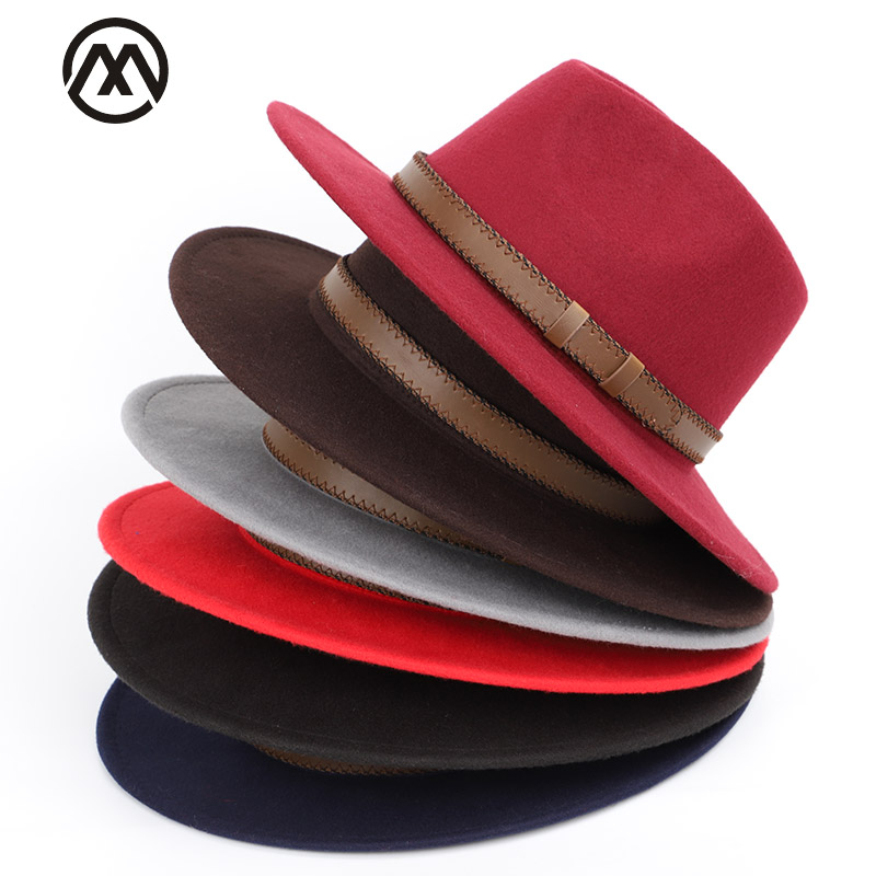 b4c63780f5f85 wholesale top hats England Style Ladies Wool wide brim caps Fedoras Hats  Black Wool felt cap Fashion Women Church pillbox hat-in Fedoras from  Apparel ...