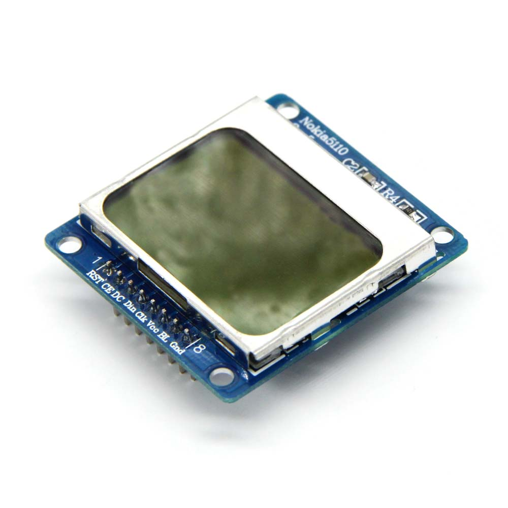 1pcs High Quality 84*48 84x84 LCD Module blue backlight adapter PCB for Nokia 5110 for Arduino Wholesale 84