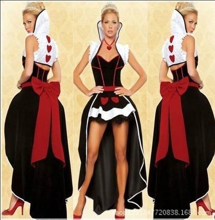 54bbab8d90a3 € 262.68  Mujeres de disfraces Cosplay Sexy vestidos fiesta para mujer  Halloween reina corazones traje eróticos Apparel fantasía trajes envío  gratis ...