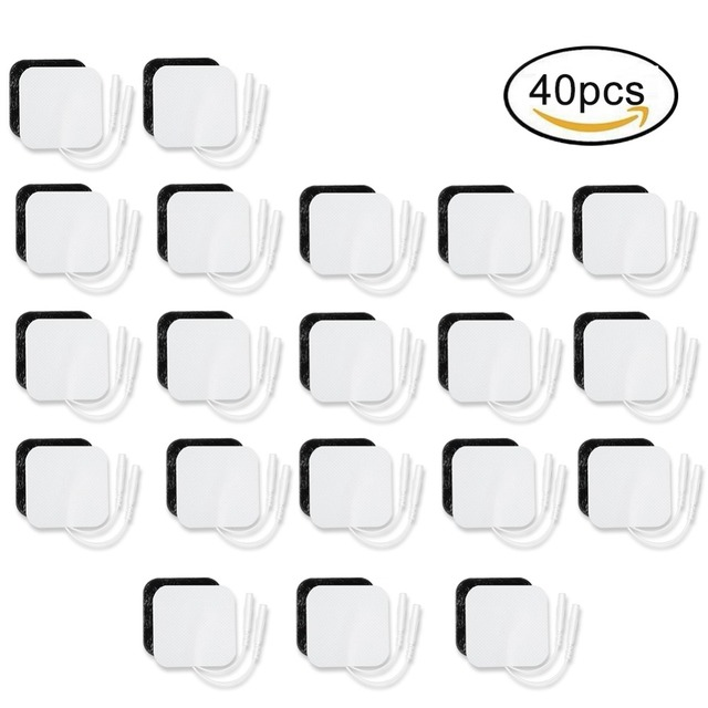 50 * 50mm Electrode Pads Self Adhesive Replacement Tens Non-woven Fabric Physical Therapy ReusableTENS Unit Patches Pad messager