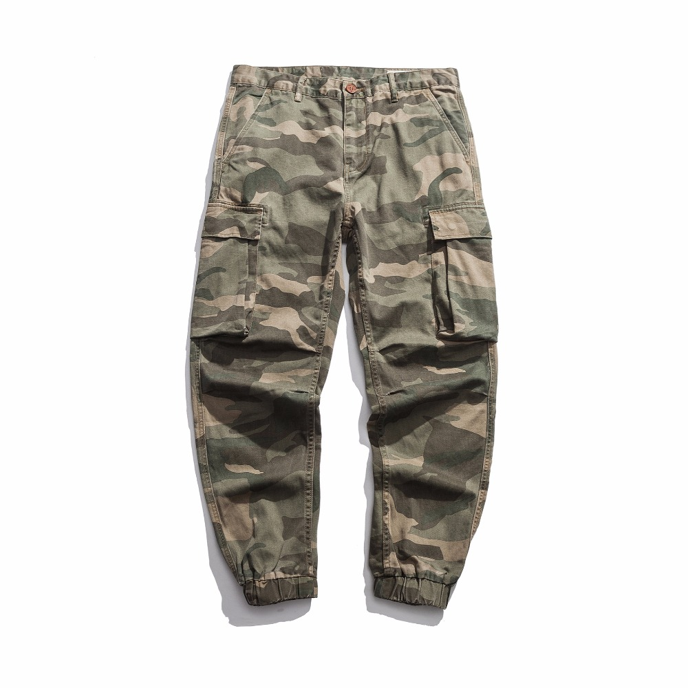 Zuversichtlich 2018 Männer Lose Multi-tasche Military Armee Camouflage Hosen Männer Casual Baumwolle Gerade Wasser Gewaschen Overalls Männlichen Hose Y835 Reisen Jungen Kleidung
