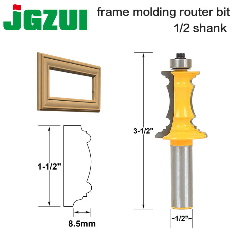 Mitered Drawer Front Molding Router Bit - 1/2 Shank  Woodworking Chisel Cutter ToolMitered Drawer Front Molding Router Bit - 1/2 Shank  Woodworking Chisel Cutter Tool
