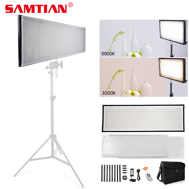 SAMTIAN FL 3090A Flexible LED Video Light Photo Studio Photography Light Dimmable 3200K 5500K For Photography Photo Shoot