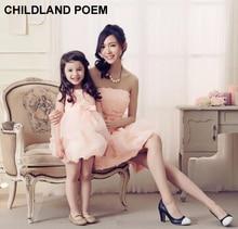 Мама и Дочь Одежда 2016 соответствия мать дочь платья свадьбу принцессы девушки лук платье мама и дочь платье