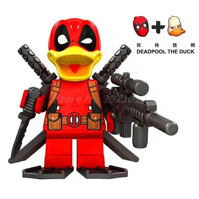D1012 Deadpool Howard the Duck Block Single Sale 2017 Marvel Super Hero Building Blocks Set Model Bricks Toys for Children вешала hotata d 1011 d 1012