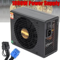 High Quality 1800W Mine Chassis Power Supply Rig Coin Miner Black Conversion New Computer Power Supply For BTC