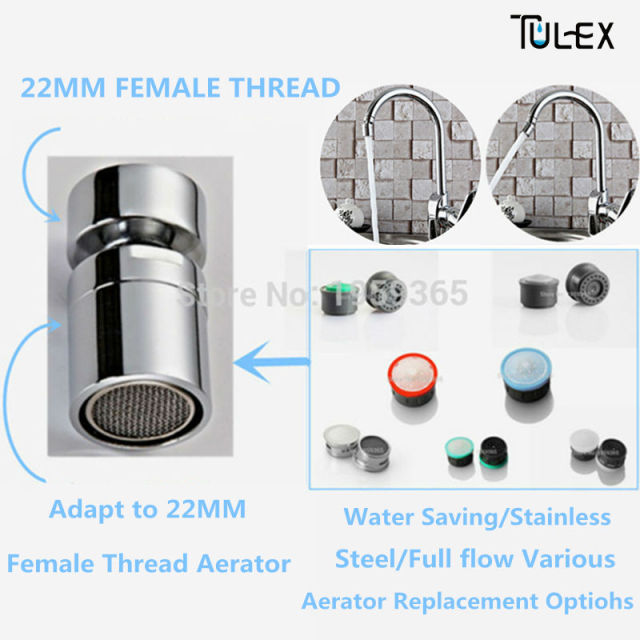 Water Saving Faucet Swivel Aerator Spout Bubbler Kitchen Accessory Brass  22MM Female/Male Thread Attachment