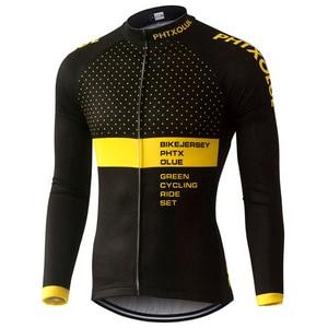 Image 2 - Phtxolue 열 양털 자전거 유니폼 가을 겨울 따뜻한 프로 Mtb 긴 소매 남자 자전거 착용 봄 여름 자전거 의류