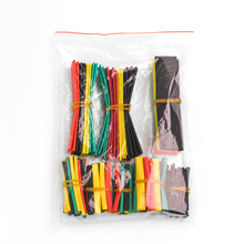 цена на 164pcs Set 2:1 Polyolefin Shrinking Assorted Heat Shrink Tube Wire Cable Insulated Sleeving Tubing Set