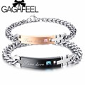 GAGAFEEL Customized Name Couple Bracelets Personalized Jewelry For Women Men Jewelry Crystal Love Bangle Gift for  Valentine Day