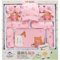 15pcs /set Cotton Newborn baby Boy/girls winter Autumn Cartoon clothes sets
