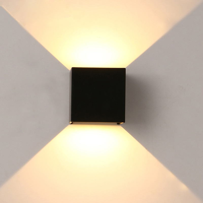 Outdoor cube led wall light waterproof balcony aisle stairs wall lamp surface mounted white ...