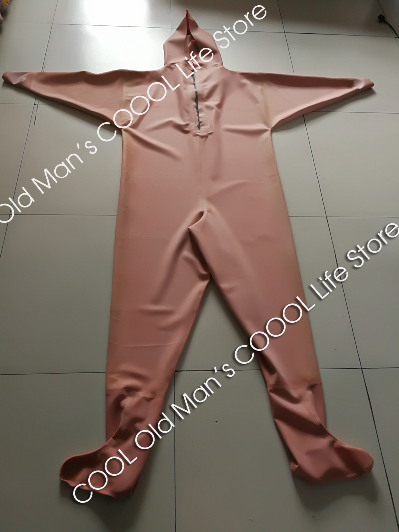 Thick Red Rubber Fishing Waders (Overalls) 1