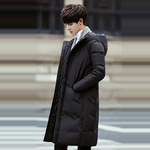 Image 5 - רוסיה 90% לבן ברווז למטה ארוך מעילי גברים חורף ארוך מעיילים עמיד למים windproof סלעית מעיל זכר באיכות גבוהה לעבות מעילים