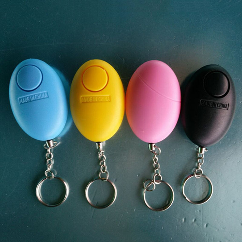 120 db Self Defense Alarm Key Chain With Siren Song Whistle Device Outdoor Night Sports Traveling Shopping Alone Emergency Tools