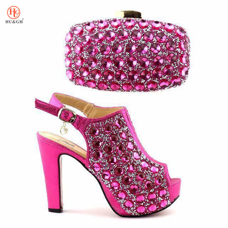 New Shoe and Bag Set in Italy Shoes and Bag Set African Women Sets Italian Matching Shoes and Bag Set with Big Hand made Crystal red african wedding shoe and bag sets women shoe and bag to match for parties elegant italian women shoe and bag set