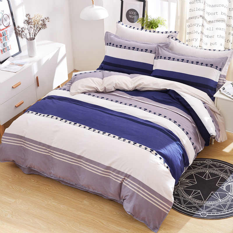 Серый AB боковой пододеяльник 4 шт постельных принадлежностей мягкий хлопок постельное белье высокое качество одеяло наволочка для подушки кровать льняная простынь 1,8 м 2 м 2,2 м 2,3 м