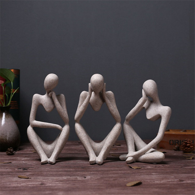 Abstract Character Statue Home Decoration Accessories Creative Home Ornament Drawing Room Office Sandstone Statue Decor figurine 4