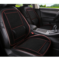 1pc Plastic Wooden Bead Mat Cover Seat Cushion Wood Beaded Comfort Breathable Seat Cover With Waist Pad For Office Home Car