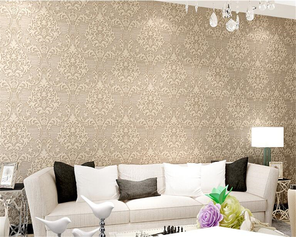 beibehang 3D Stereo Relief Nonwovens 3d Wallpaper European Gold ...