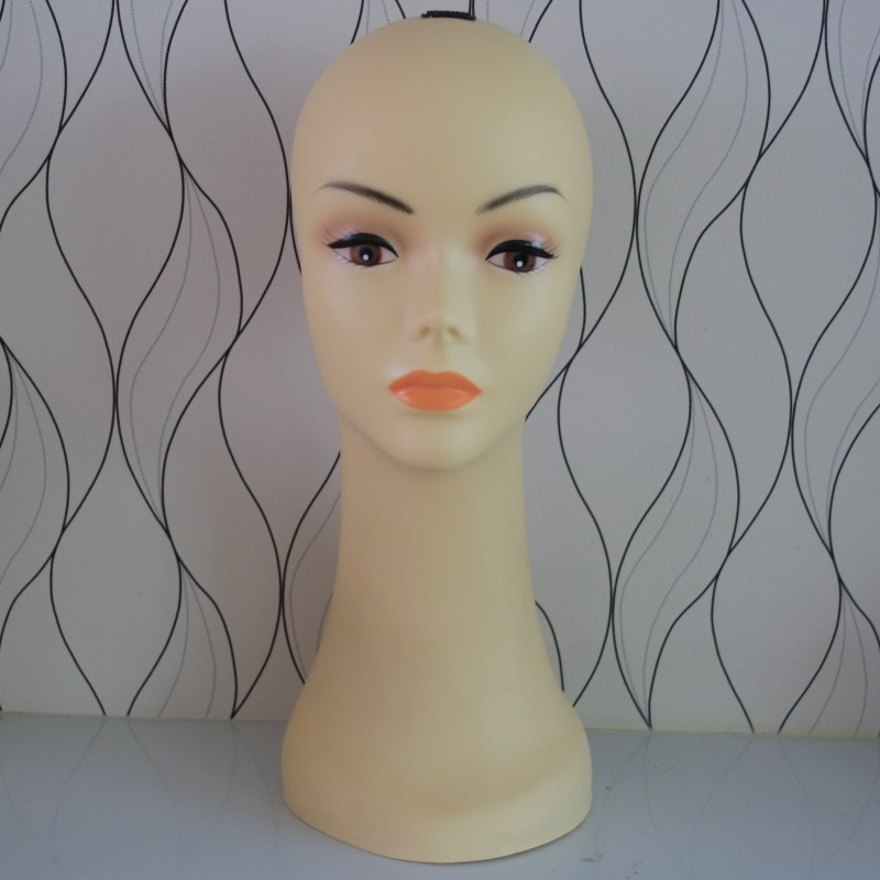 Free Shipping!!Fashionable Style Female Wig Mannequin Head PVC Head Model Hot Sale