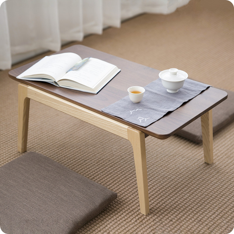 Solid Ash/Walnut Wood Center Coffee Tea Table Modern Mid ...