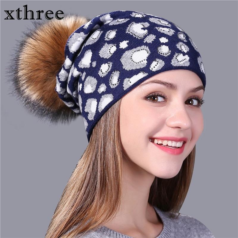 کلاه بافتنی پلنگ Xthree چاپ کلاه بافتنی - لوازم جانبی پوشاک