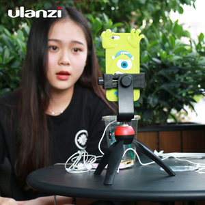 Image 2 - Ulanzi Phone Tripod + Vertical Bracket Smartphone Mount Holder Cold Shoe Phone Clip Clipper Tripod Adapter for iPhone Samsung