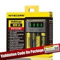 100% Original Nitecore Nuevo I4 Nueva Digicharger Cargador de Batería Nitecore I2 Cargador para 26650 18650 18350 16340 14500 10440
