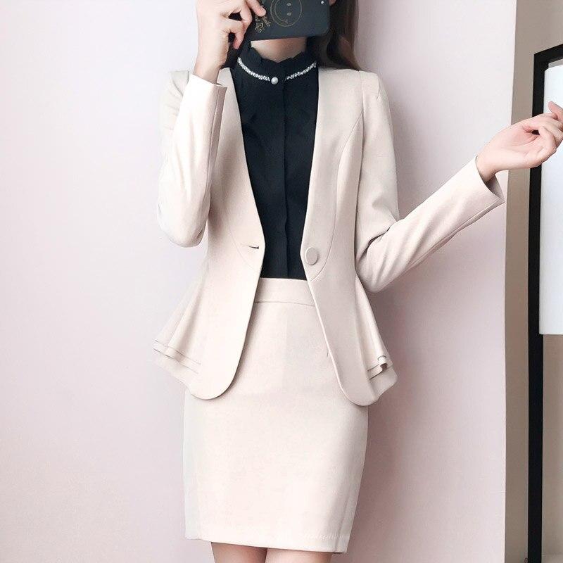 Bureau Manteau Ol 2 1 Blazer Étudiant Costume Loisirs Courte Femmes Nouveau Deux Jupe Entreprise Automne Pièces 3 Des Filles O5qTwxxH8E