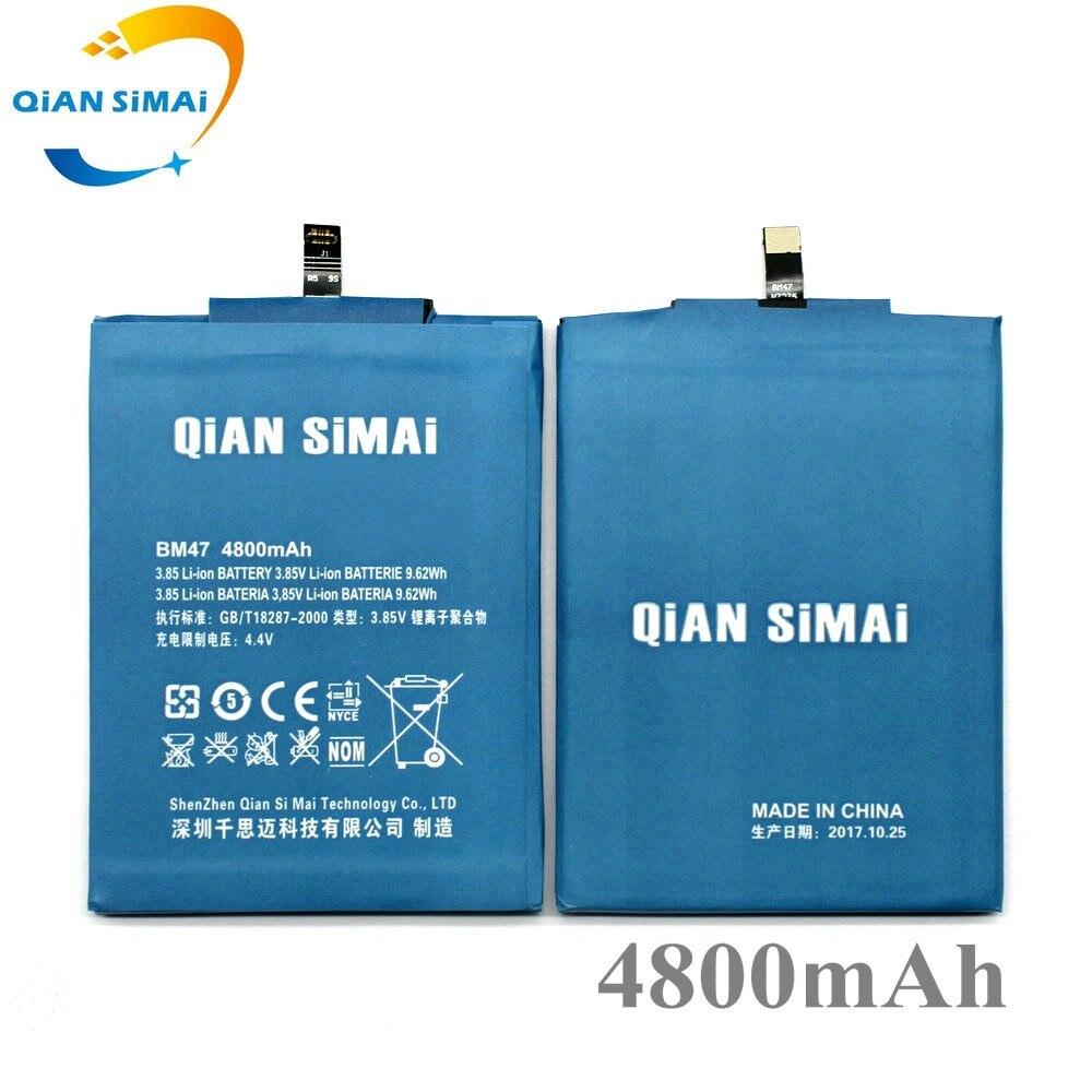 QiAN SiMAi nuevo 4800 de alta calidad BM47 100% mAh reemplazo de batería para Xiaomi Redmi 3 Pro 3 s 3X Redmi 4X Teléfono + código de seguimiento
