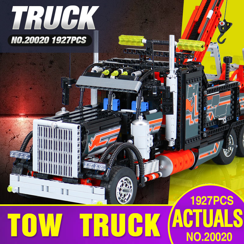 DHL 20020 Technic Ultimate Series The 8285 Mechanical American Style Heavy Container Trucks Building Blcoks Bricks