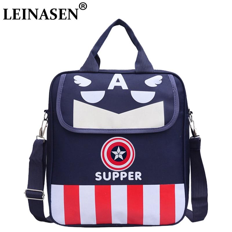Children School Shoulder Bag For Students Kids Messenger Bag Cartoon Captain America bag for Boys kid book bag