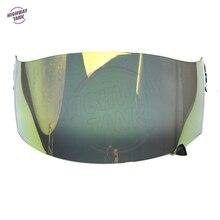 1 PCS Gold Motorcycle Helmet Visor Lens Full Face Shield Case for SUOMY Spec 1R Spec-1R Extreme Apex Visor Mask