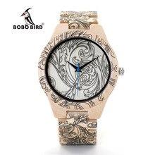 2e1e015db2c BOBO PÁSSARO V-O07 Men Casual relógio de Pulso Relógio de Quartzo com Toda  a Madeira de Bambu De Madeira De Alta Qualidade Cinta.