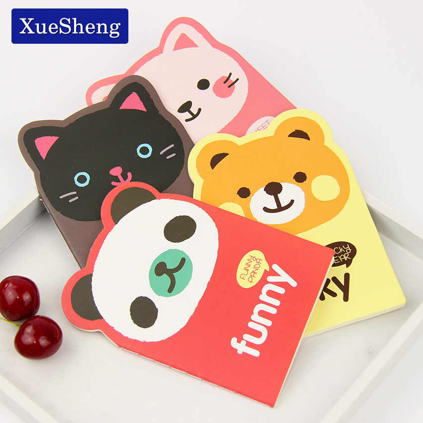 Coreano Animal Panda Urso Gato Kawaii Notepad Mini Notebook Bonito Livro de Nota Pequeno Suprimentos de Papelaria Dos Desenhos Animados Para O Miúdo