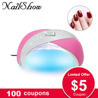 NailShow Ice Lamp In Nail Dryers Nail lamps 36 Watt UV Gel Polish Lamps For Nails 24 LED Lights Fast Dryer Nail Gels With Sensor