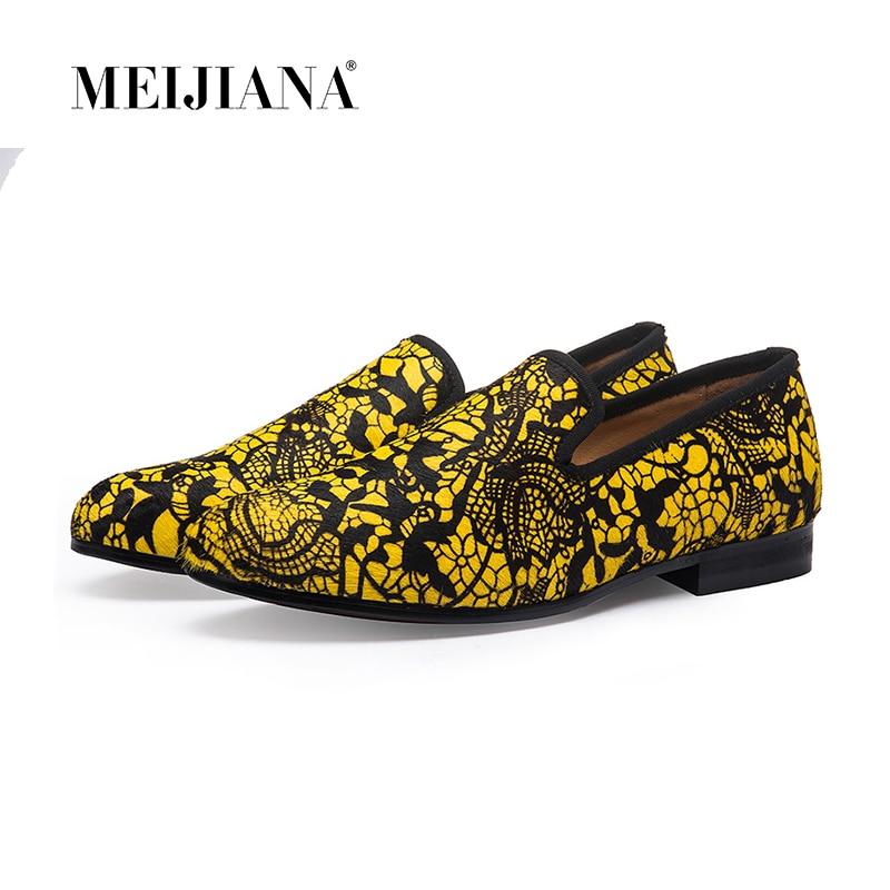 남자를위한 빨간 바닥 신발 슈퍼 스타 고급스러운 남자 드레스 신발 남자 플랫 인간의 레이스 lebron 신발 노란색 패턴 가죽-에서남성용 캐주얼 신발부터 신발 의  그룹 1