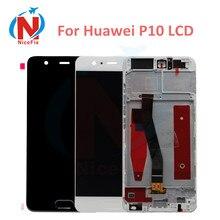 Huawei P10 VTR L09 VTR L10 VTR L29 LCD ekran dokunmatik ekran digitizer Ile Çerçeve Meclisi Değiştirme Huawei P10 LCD