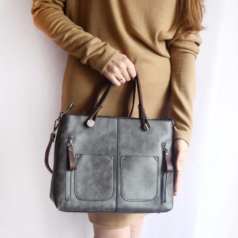 DALFR Brand Women Crossbody Bag Ladies Leather Top-handle Bags Luxury Women Handbags Designer Women Messenger Bag