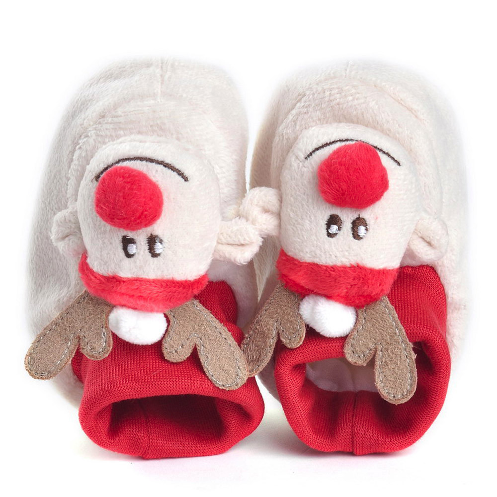1pc Best Christmas Gift Cartoon Design Baby Girls Winner Shoes Soft Sole First Baby Casual Prewalkers Christmas Reindeer shoes