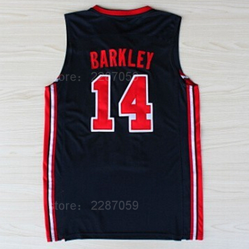 e1ecaca6bde0 Ediwallen 1992 USA Dream Team One 14 Charles Barkley 34 Basketball jerseys  High School Breathable Sports Navy Color Blue Green-in Basketball Jerseys  from ...