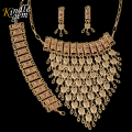 2017 Fashion Boho Style India Jewelry Sets  Dubai Gold Plated Jewelry Set African Nigerian Wedding Bridal Bijoux For Women